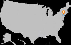Mapa punto de centro de datos
