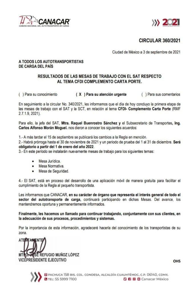 Documentos CANARAR CIRCULAR 360 2021